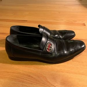 Gucci Shoes - Gucci Black GG loafer/slip on dress shoes 9.5